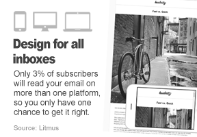 Only 3% of subscribers will read your email on more than one platform, so you only have one chance to get it right.