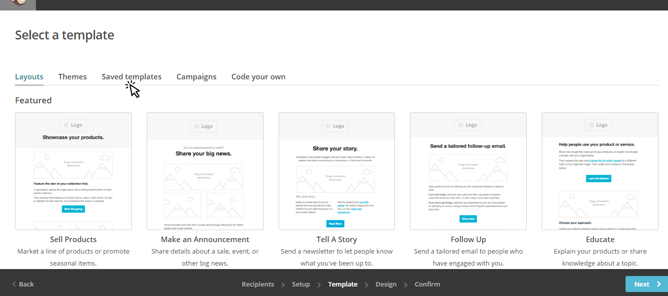 Creating a Campaign Using your MailChimp Template – Full Service ...